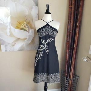 BCBGMaxAzria ~ Black Embroidered Dress ~ Size 2